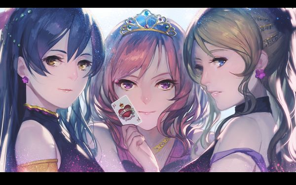 Tags: Anime, Ekao, Love Live!, Ayase Eri, Nishikino Maki, Sonoda Umi, Soldier Game, Wallpaper