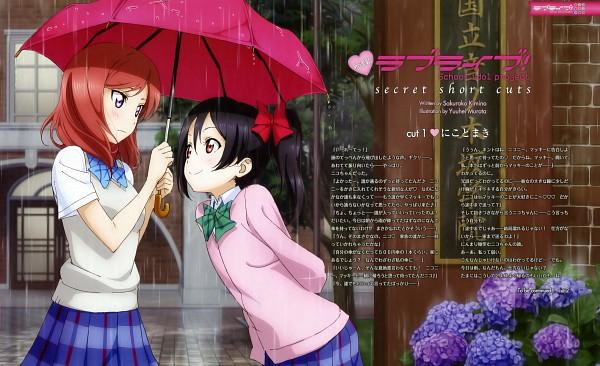Tags: Anime, Murota Yuuhei, Love Live!, Nishikino Maki, Yazawa Niko, Official Art, Scan, Wallpaper