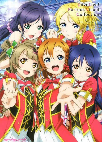 Tags: Anime, Love Live!, Love Live! Perfect Visual Collection ~ Smile ~, Kousaka Honoka, Toujou Nozomi, Sonoda Umi, Ayase Eri, Official Art, Scan, Mobile Wallpaper, Bokura no LIVE Kimi to no LIFE