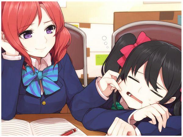 Tags: Anime, Hitoto, Love Live!, Nishikino Maki, Yazawa Niko, Pinching