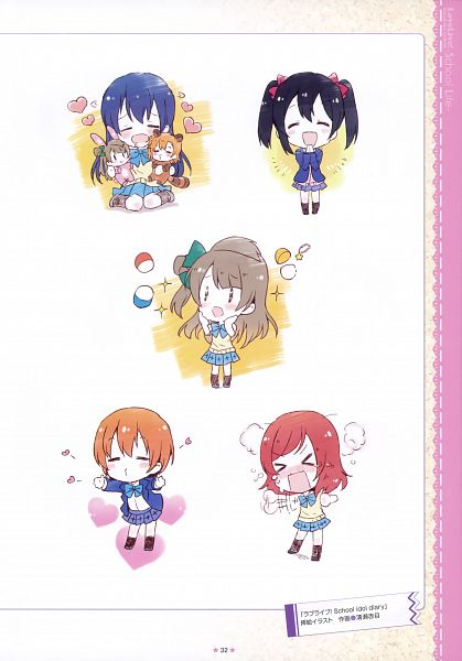 Tags: Anime, Kiyose Akame, Love Live!, Love Live! School Idol ALBUM -School Life-, Minami Kotori, Yazawa Niko, Kousaka Honoka, Hoshizora Rin, Sonoda Umi, Nishikino Maki, Official Art, Scan
