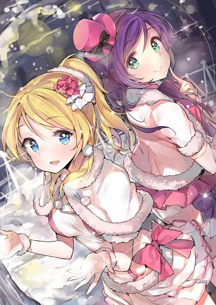 Tags: Anime, Cozyquilt, Love Live!, Ayase Eri, Toujou Nozomi, Mobile Wallpaper, Snow Halation, PNG Conversion
