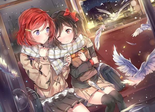 Tags: Anime, Cozyquilt, Love Live!, Nishikino Maki, Yazawa Niko, PNG Conversion