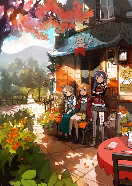Tags: Anime, Alchemaniac, Love Live!, Kousaka Honoka, Sonoda Umi, Minami Kotori, Mobile Wallpaper