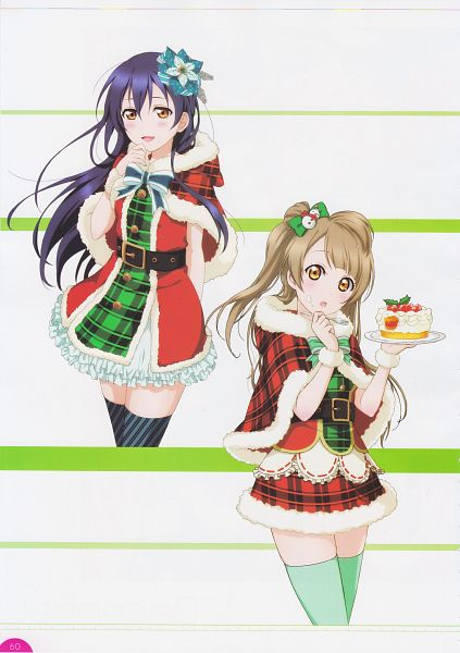 Tags: Anime, Sunrise (Studio), KLab, Love Live!, Love Live! School Idol Festival Official Illustration Book, Love Live! School Idol Festival, Minami Kotori, Sonoda Umi, Mobile Wallpaper, Official Art, Scan