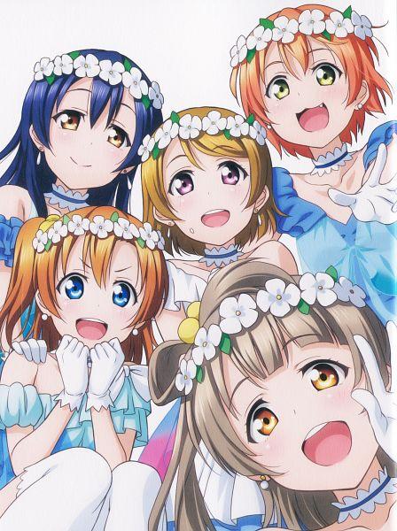 Tags: Anime, Sunrise (Studio), Love Live!, Minami Kotori, Koizumi Hanayo, Kousaka Honoka, Hoshizora Rin, Sonoda Umi, Scan, Mobile Wallpaper, Yume no Tobira, Official Art