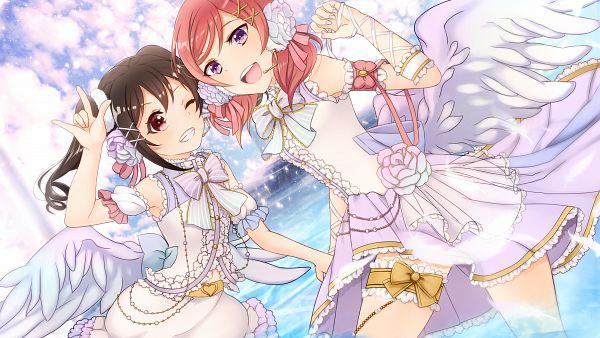 Tags: Anime, Pixiv Id 1136294, Love Live!, Yazawa Niko, Nishikino Maki, HD Wallpaper, PNG Conversion, Wallpaper