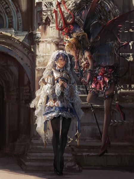 Tags: Anime, Stu Dts, Love Live!, Sonoda Umi, Ayase Eri, Pixiv, Fanart, Mobile Wallpaper, Fanart From Pixiv