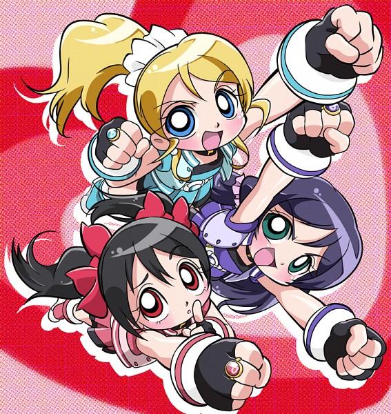 Tags: Anime, Asuka (Artist), Power Puff Girls Z, Love Live!, Toujou Nozomi, Ayase Eri, Yazawa Niko, Hyper Blossom (Cosplay), Rolling Bubbles (Cosplay), Powered Buttercup (Cosplay), Fanart From Pixiv, Fanart, Pixiv