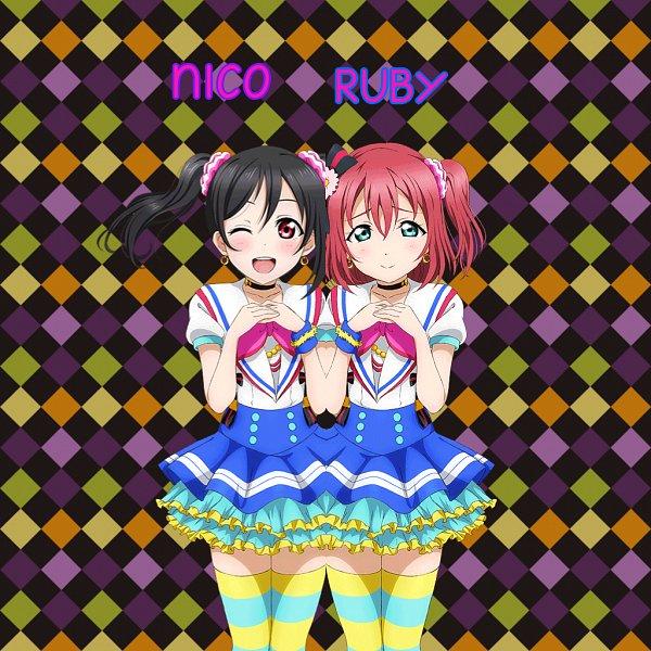 Tags: Anime, Love Live! Sunshine!!, Love Live!, Yazawa Niko, Kurosawa Ruby, Kurosawa Ruby (Cosplay), Aozora Jumping Heart, Edited