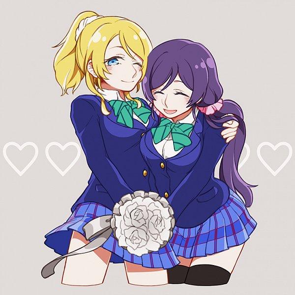 Tags: Anime, Pixiv Id 777897, Love Live!, Ayase Eri, Toujou Nozomi, Pixiv, Fanart From Pixiv, Fanart