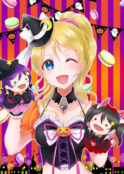 Tags: Anime, Pixiv Id 17414742, Love Live!, Toujou Nozomi, Ayase Eri, Yazawa Niko, Fanart From Pixiv, Pixiv, Fanart, Dancing stars on me!