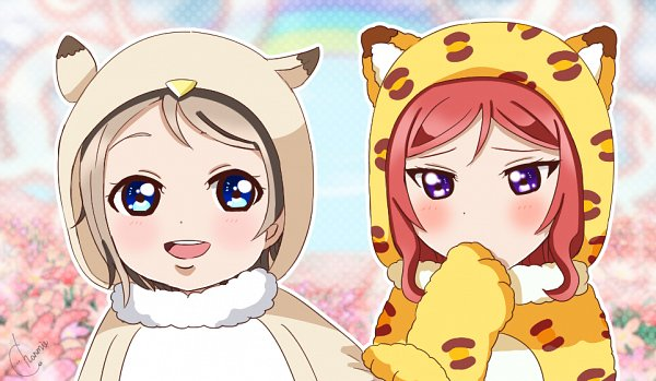 Tags: Anime, Pixiv Id 29660259, Love Live!, Love Live! Sunshine!!, Nishikino Maki, Watanabe You, Pixiv, Fanart, Fanart From Pixiv