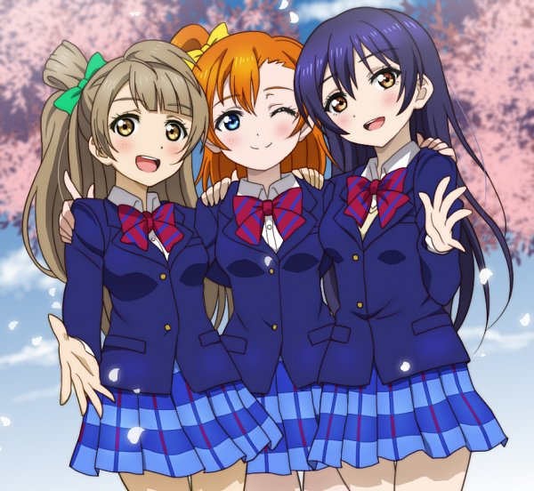 Tags: Anime, Pixiv Id 2917301, Love Live!, Kousaka Honoka, Sonoda Umi, Minami Kotori, Fanart From Pixiv, Pixiv, Fanart