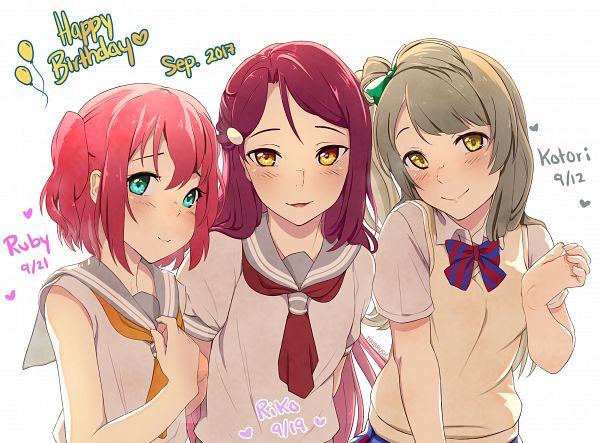 Tags: Anime, Tiribrush, Love Live!, Love Live! Sunshine!!, Sakurauchi Riko, Minami Kotori, Kurosawa Ruby, Pixiv, Fanart, Fanart From Pixiv