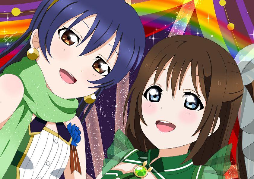 Tags: Anime, Pixiv Id 29660259, Love Live!, Love Live! School Idol Festival ALL STARS, Sonoda Umi, Ousaka Shizuku, Pixiv, Fanart, Fanart From Pixiv