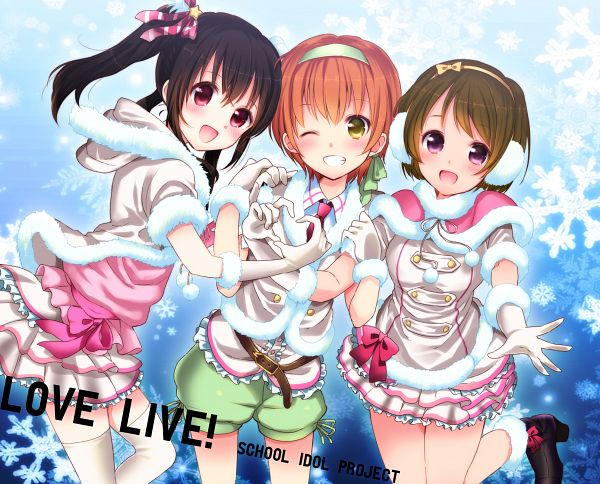 Tags: Anime, Kiyose Akame, Love Live!, Hoshizora Rin, Koizumi Hanayo, Yazawa Niko, Snow Halation