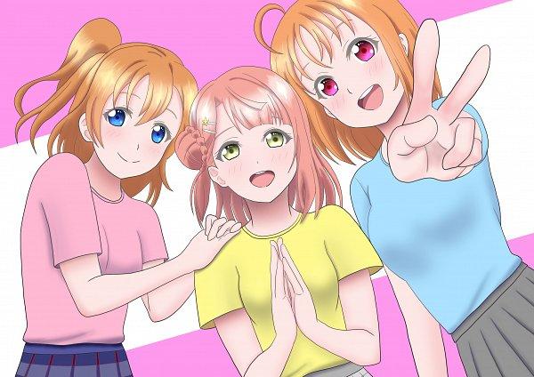 Tags: Anime, Pixiv Id 37624391, Love Live! Sunshine!!, Love Live! Nijigasaki Gakuen School Idol Doukoukai, Love Live!, Love Live! School Idol Festival ALL STARS, Takami Chika, Kousaka Honoka, Uehara Ayumu, Pixiv