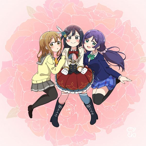 Tags: Anime, Pixiv Id 618620, Love Live!, Love Live! Nijigasaki Gakuen School Idol Doukoukai, Love Live! Sunshine!!, Love Live! School Idol Festival ALL STARS, Yuki Setsuna, Kunikida Hanamaru, Toujou Nozomi, Pixiv, Fanart, Fanart From Pixiv