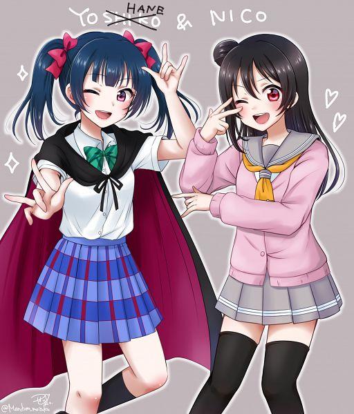 Tags: Anime, Pixiv Id 222103, Love Live! Sunshine!!, Love Live!, Love Live! School Idol Festival ALL STARS, Tsushima Yoshiko, Yazawa Niko, Love Live! (Cosplay), Tsushima Yoshiko (Cosplay), Yazawa Niko (Cosplay), Fanart, Fanart From Pixiv, Pixiv