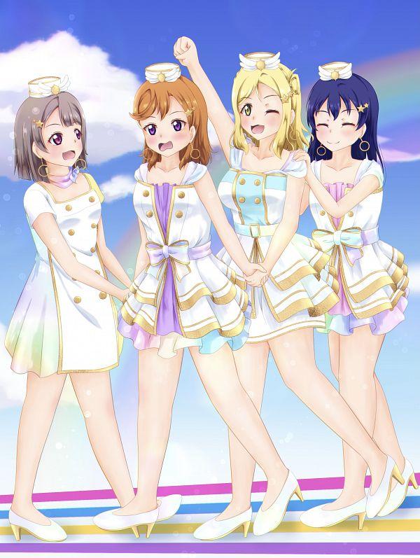 Tags: Anime, Pixiv Id 18106300, Love Live!, Love Live! Superstar!!, Love Live! Sunshine!!, Love Live! Nijigasaki Gakuen School Idol Doukoukai, Love Live! School Idol Festival ALL STARS, Sonoda Umi, Nakasu Kasumi, Shibuya Kanon, Ohara Mari, Pixiv, Fanart
