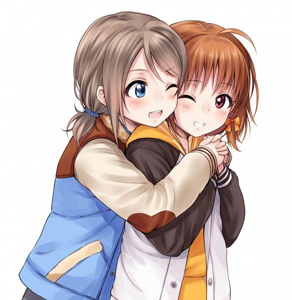 Tags: Anime, Suzushiro Yukari, Love Live! Sunshine!!, Watanabe You, Takami Chika, Fanart From Pixiv, Pixiv, Fanart
