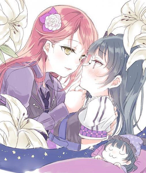 Tags: Anime, Nakayama Miyuki, Love Live! Sunshine!!, Touhou, Sakurauchi Riko, Tsushima Yoshiko, Dreaming, Strawberry Trapper, PNG Conversion