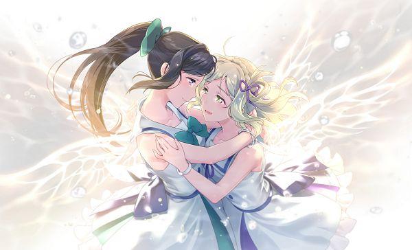 Tags: Anime, Jumping Dogeza, Love Live! Sunshine!!, Ohara Mari, Matsuura Kanan