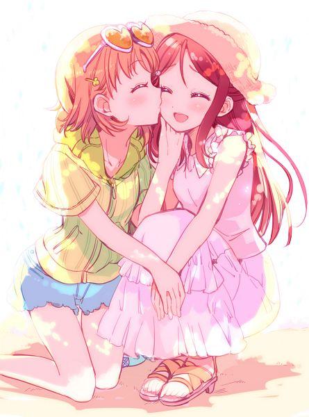 Tags: Anime, Yamada Ako, Love Live! Sunshine!!, Sakurauchi Riko, Takami Chika, Mobile Wallpaper
