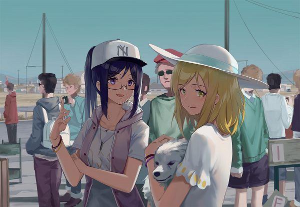 Tags: Anime, Huanxiang Heitu, Love Live! Sunshine!!, Ohara Mari, Matsuura Kanan