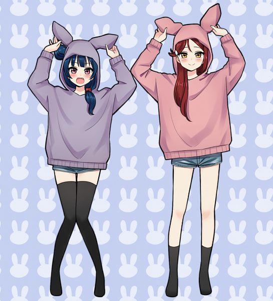 Tags: Anime, Pixiv Id 4077126, Love Live! Sunshine!!, Tsushima Yoshiko, Sakurauchi Riko