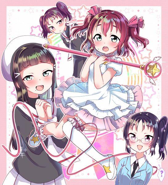 Tags: Anime, Pixiv Id 504710, Love Live! Sunshine!!, Kurosawa Ruby, Kurosawa Dia, Kazuno Leah, Kazuno Sarah, Kinomoto Sakura (Cosplay), Daidouji Tomoyo (Cosplay)