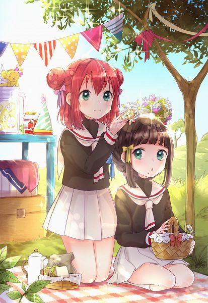 Tags: Anime, Pixiv Id 21666965, Love Live! Sunshine!!, Kurosawa Ruby, Ohara Mari, Kurosawa Dia, Kero-chan (Cosplay), Kinomoto Sakura (Cosplay), Daidouji Tomoyo (Cosplay)