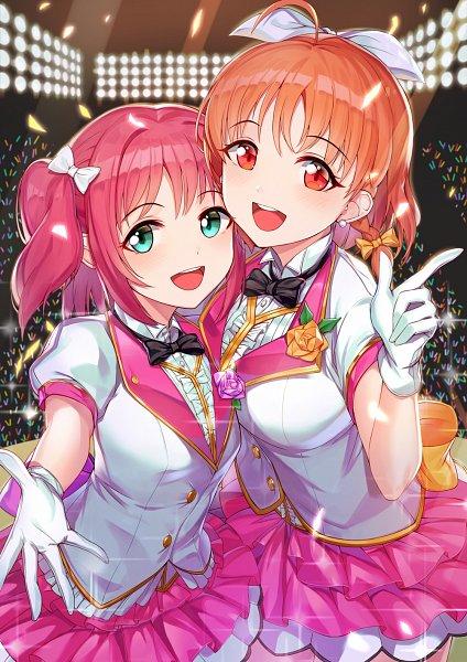 Tags: Anime, Pixiv Id 3779517, Love Live! Sunshine!!, Kurosawa Ruby, Takami Chika, Fanart From Pixiv, Pixiv, Fanart