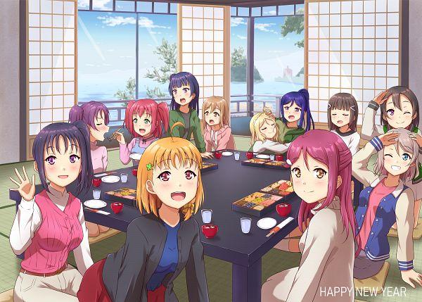 Tags: Anime, Qy, Love Live! Sunshine!!, Love Live! Sunshine!! The School Idol Movie: Over the Rainbow, Watanabe You, Kurosawa Ruby, Kurosawa Dia, Watanabe Tsuki, Ohara Mari, Matsuura Kanan, Kunikida Hanamaru, Sakurauchi Riko, Kazuno Leah