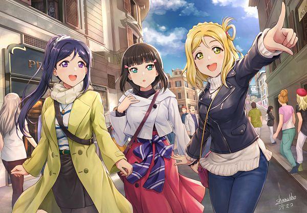 Tags: Anime, Pixiv Id 13537057, Love Live! Sunshine!!, Love Live! Sunshine!! The School Idol Movie: Over the Rainbow, Ohara Mari, Kurosawa Dia, Matsuura Kanan