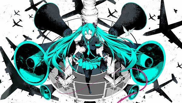 Tags: Anime, Pixiv Id 6487143, VOCALOID, Hatsune Miku, Wallpaper, Facebook Cover, Love is War