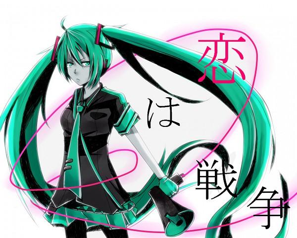 Tags: Anime, VOCALOID, Hatsune Miku, PNG Conversion, Fanart, Love is War, Wallpaper