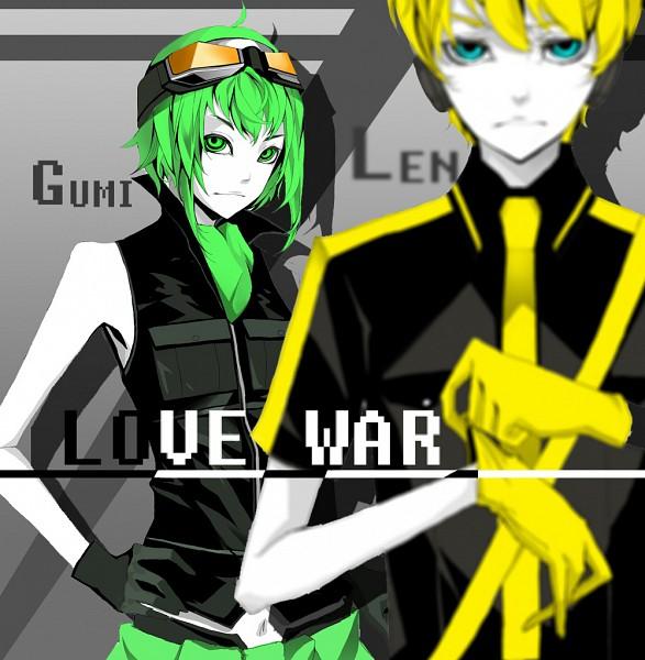 Tags: Anime, C P .Ieng, VOCALOID, GUMI, Kagamine Len, Love is War, Pixiv, Fanart