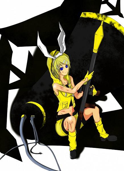 Tags: Anime, VOCALOID, Kagamine Rin, Grenade Launcher, Rocket Launcher, Fanart, Love is War