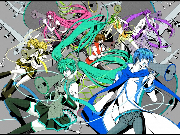 Tags: Anime, Yuuno (Yukioka), Pixiv Id 2623701, VOCALOID, Kagamine Len, Kamui Gakupo, Kagamine Rin, MEIKO (VOCALOID), GUMI, Megurine Luka, KAITO, Hatsune Miku, Koi Was Sensou