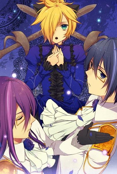Tags: Anime, Chi Yu, VOCALOID, Kagamine Len, Kamui Gakupo, KAITO, Loveless×××, Mobile Wallpaper, Natsu-p, VanaN'Ice