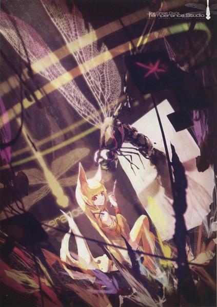 Tags: Anime, Lowlight Kirilenko, Pixiv Girls Collection, Pixiv Girls Collection 2012, Dragonfly, Pixiv, Mobile Wallpaper