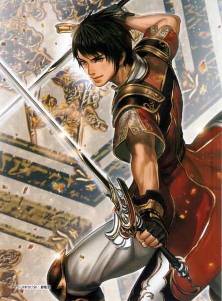 Tags: Anime, Midori Foo, Dynasty Warriors, Lu Xun, Official Art, Scan