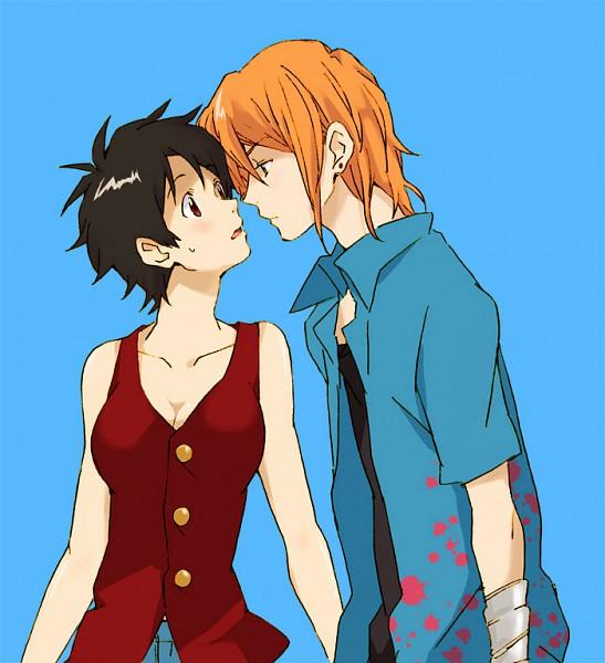 Tags: Anime, ONE PIECE, Monkey D. Luffy, Nami (ONE PIECE), Nami (Male), Luffy (Female), Straw Hat Pirates, LuNa (Pairing)