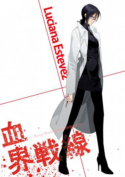 Tags: Anime, Rui Yuda, Kekkai Sensen, Luciana Estevez, Mobile Wallpaper