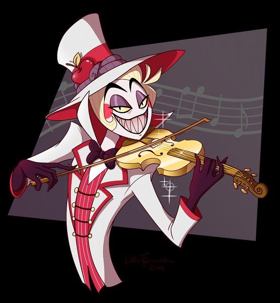 Tags: Anime, Littlefernanda, Hazbin Hotel, Lucifer (Hazbin), Playing Violin, Fanart, Fanart From DeviantART, deviantART
