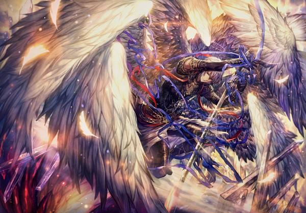 Tags: Anime, Salay, Shingeki no Bahamut, Lucifer (Shingeki no Bahamut), Extra Wings, Pixiv, Fanart From Pixiv, Fanart, PNG Conversion