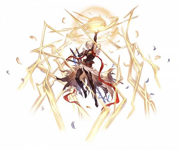 Tags: Anime, Minaba Hideo, Cygames, Granblue Fantasy, Lucifer (Shingeki no Bahamut), Official Art, Cover Image
