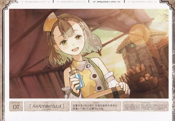 Tags: Anime, Hidari, Gust, Atelier Escha & Logy Official Visual Book, Atelier Escha & Logy, Lucille Ernella, Scan, Official Art